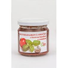 Bio paradajková omáčka s čerstvou bazalkou a cesnakom