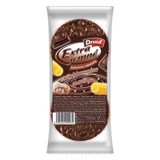 Extra jemné kukuričné chlebíčky s horko-kakaovou polevou a soľou 65g