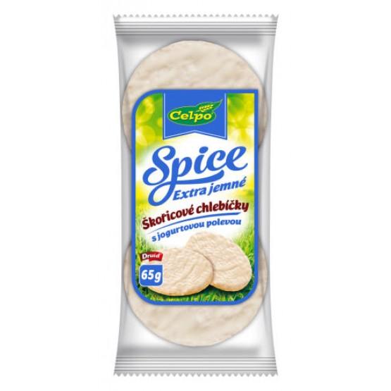 Spice Extra jemné škoricové chlebíčky, ryžové s jogurtovou polevou 65g