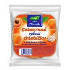Celozrnné ryžové chlebíčky s jogurtovou polevou a marhuľovou príchuťou 22g