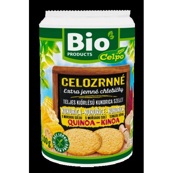 Bio kukuričné chlebíčky s qiunoou - slané 100g