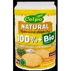 Bio chlebíčky s mungo fazuľkou a cícerom a morskou soľou 90g