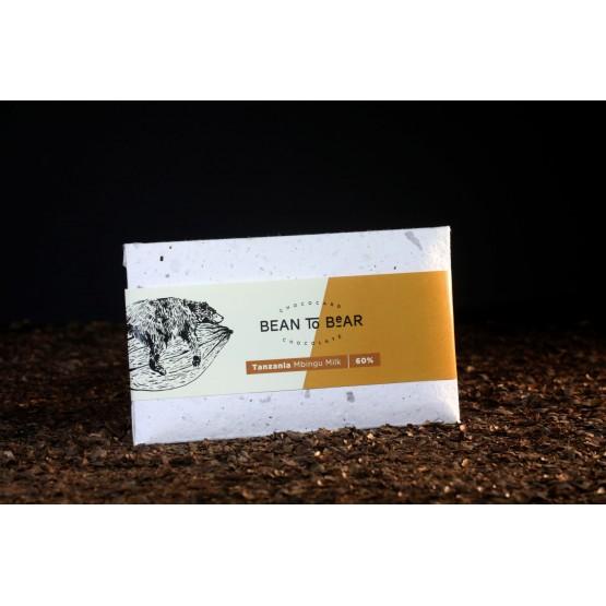 Čokoláda Mbingu 60% mliečna (Tanzánia)