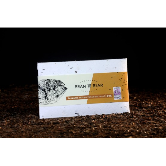 Čokoláda Mbingu 60% s morskou soľou (Tanzánia)